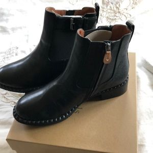 Gentle Souls black leather booties